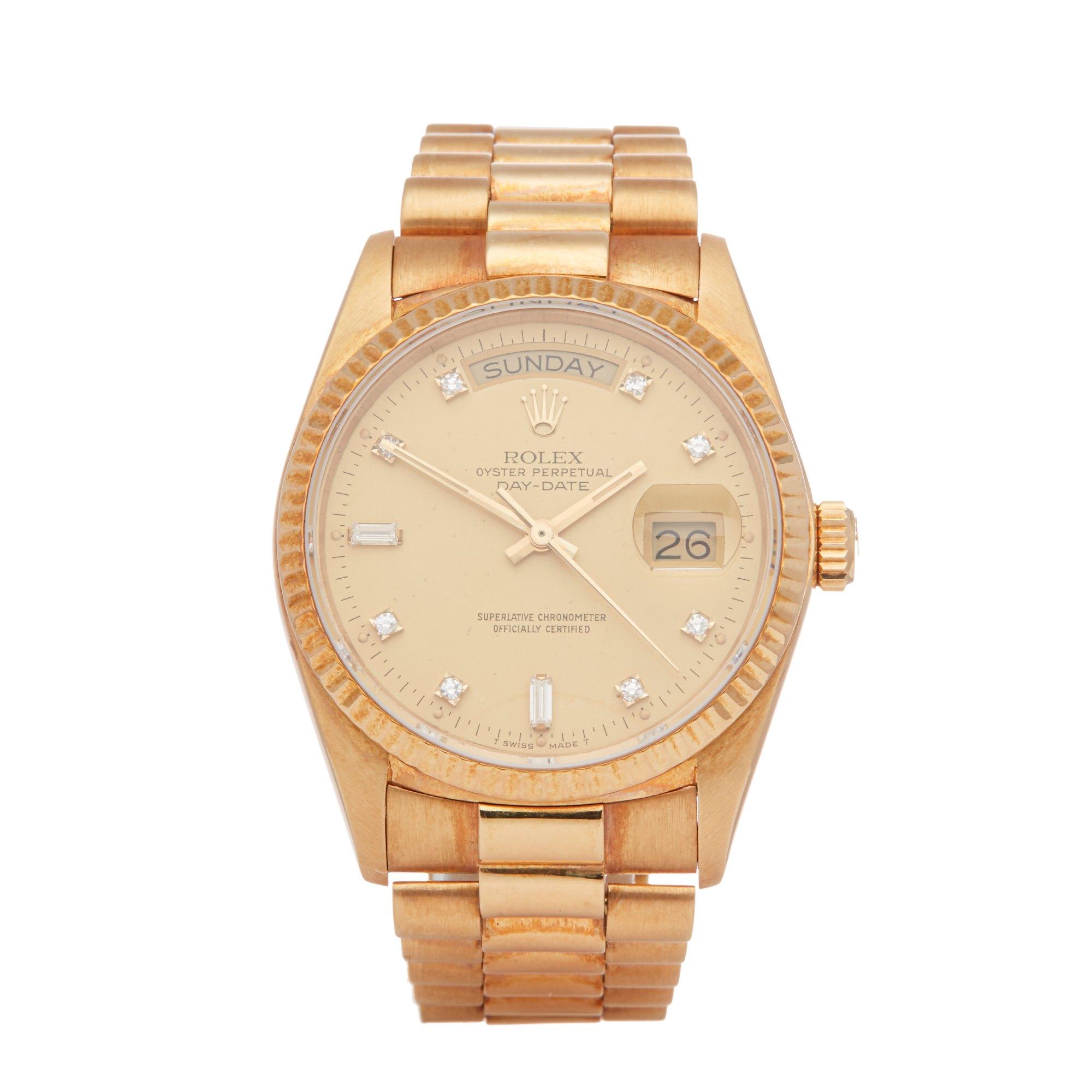 Rolex Day-Date 36 Diamond 18K Yellow Gold 18038A
