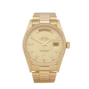 Rolex Day-Date 36 Diamond 18K Yellow Gold - 18038A