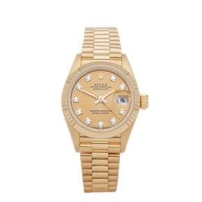 Rolex Datejust 26 Diamond 18K Yellow Gold - 69178G