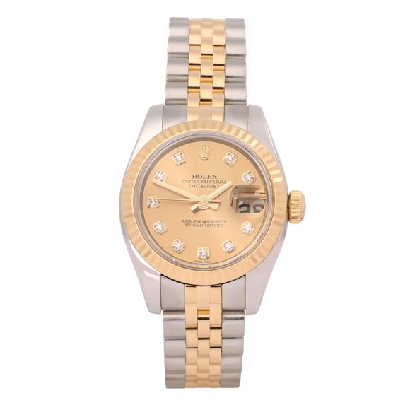 Rolex Datejust 26 Diamond Stainless Steel & Yellow Gold - 179173G