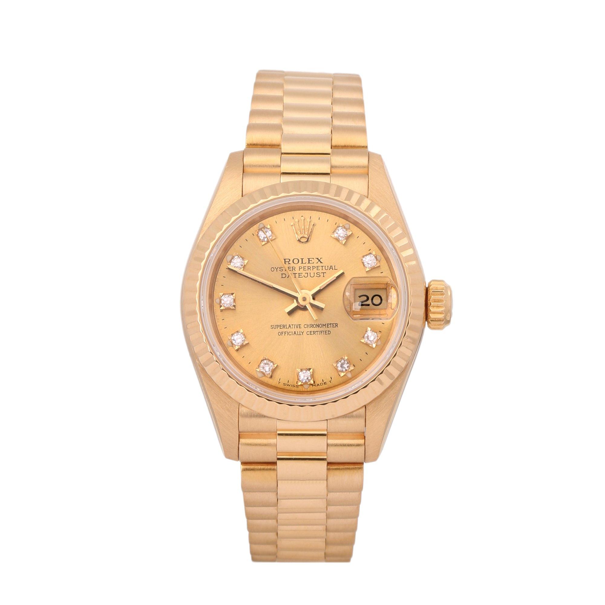 Rolex Datejust 26 18K Yellow Gold 69178G