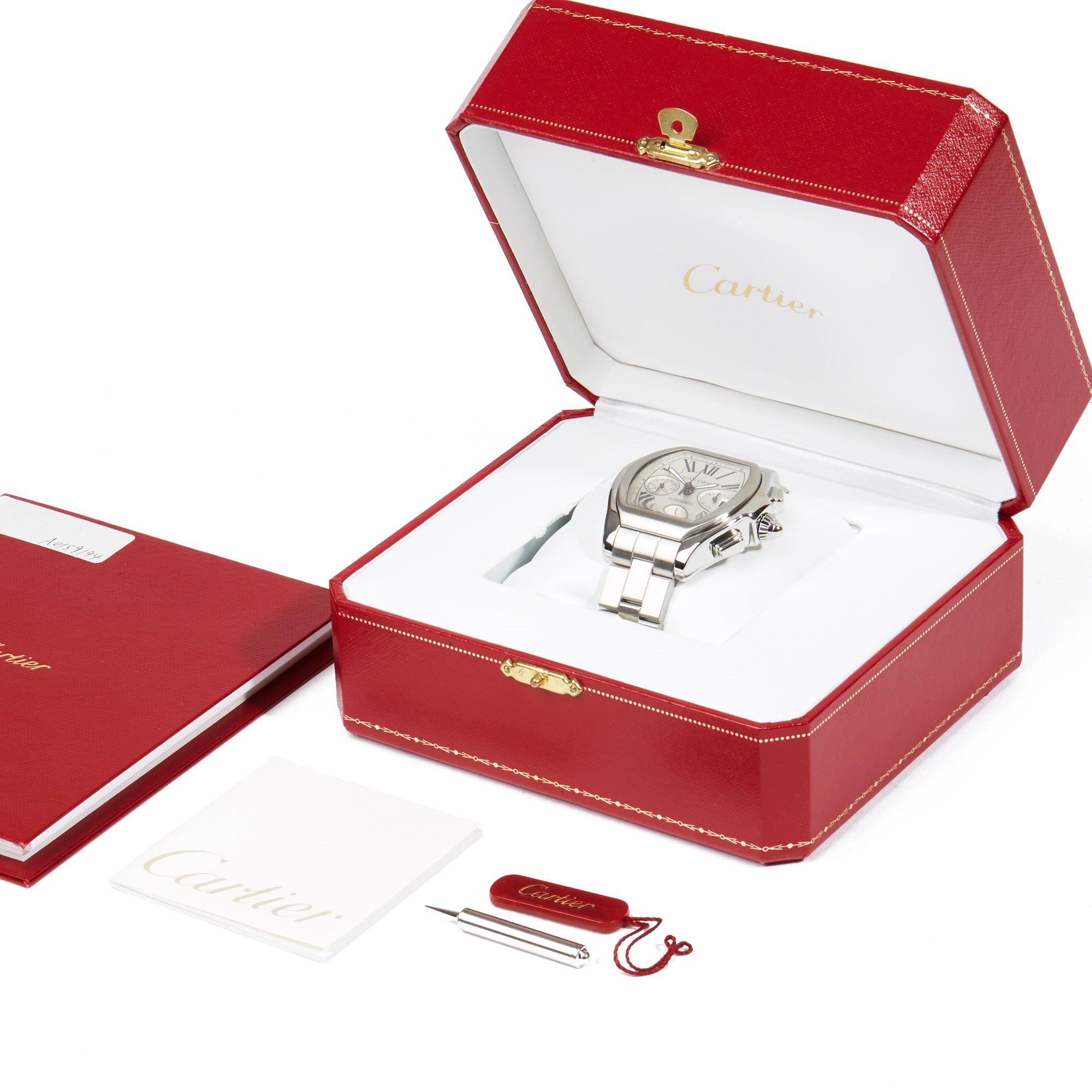Cartier Roadster XL Chronograph Stainless Steel W6206019 or 3405