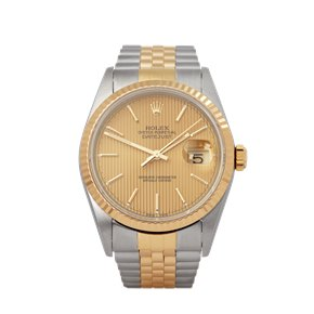 Rolex Datejust 36 Line Dial Stainless Steel & Yellow Gold - 16233