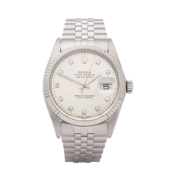 Rolex Datejust 36 Diamond Stainless Steel - 16014