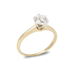 Tiffany & Co. 18k Yellow Gold Solitaire Diamond Ring
