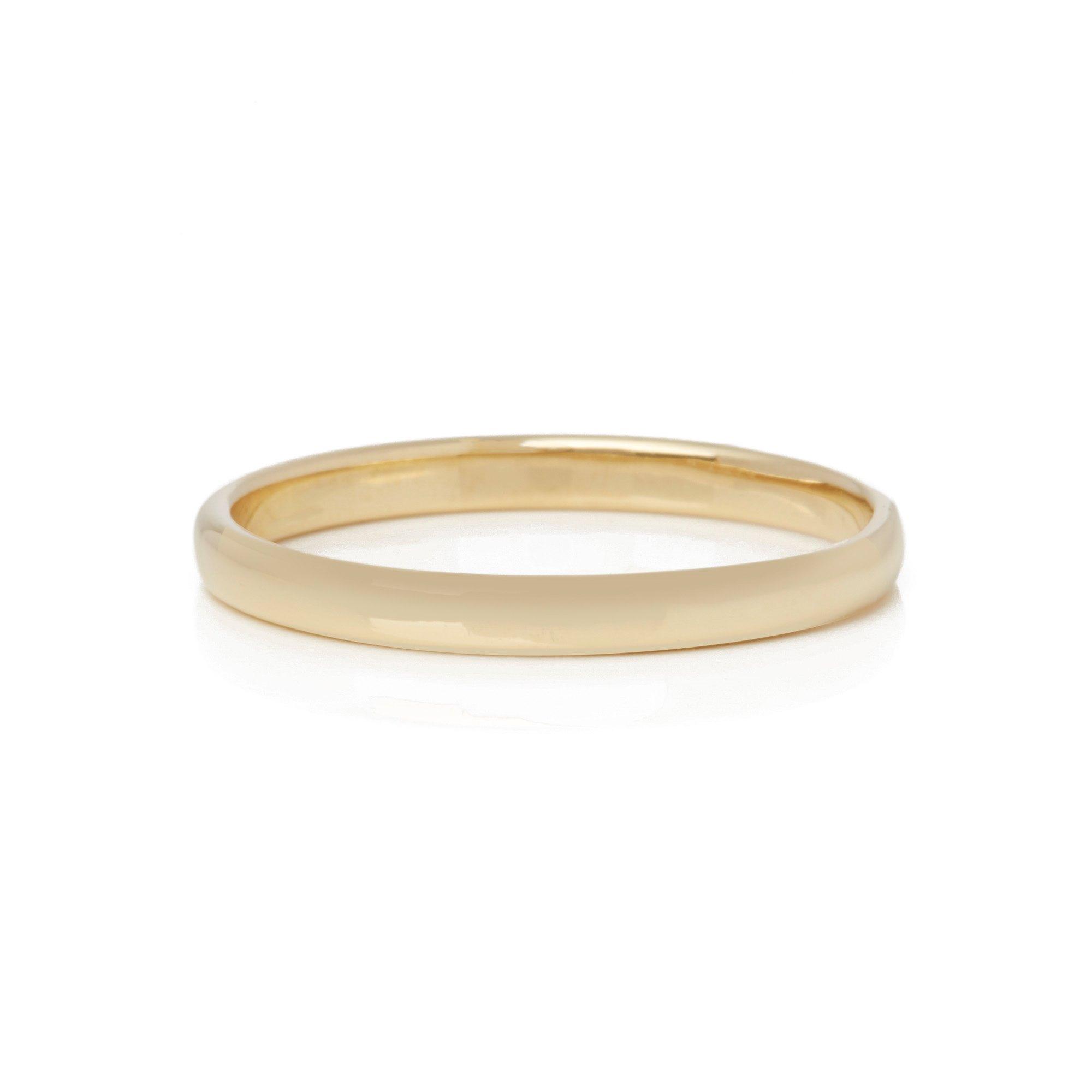 Tiffany & Co. 18k Yellow Gold 2.03mm Court Wedding Band