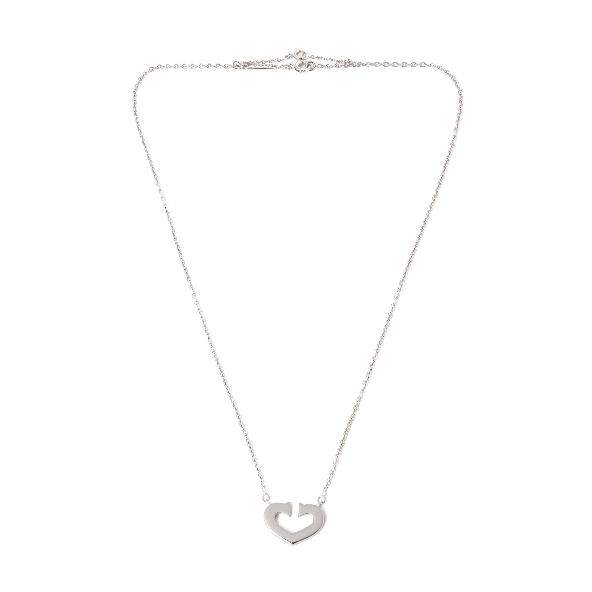 Cartier 18k White Gold Hearts and Symbols Necklet
