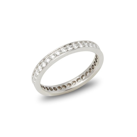 Cartier Platinum Round Brilliant Cut Diamond Full Eternity Ring