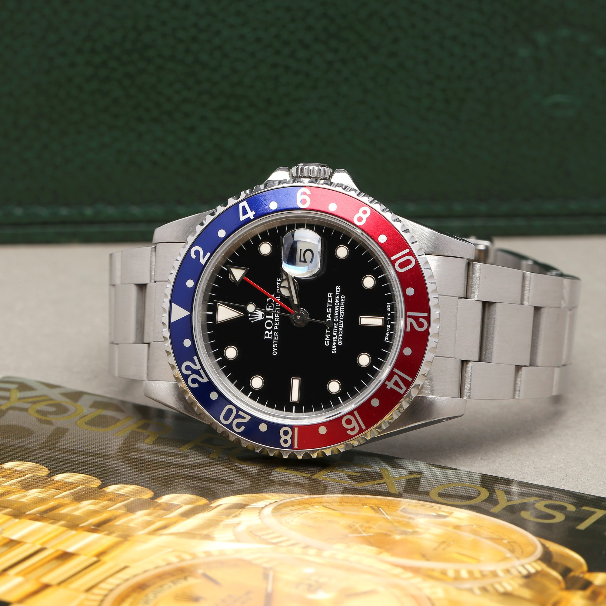 Rolex GMT-Master Pepsi Serif Fat Font Stainless Steel 16700