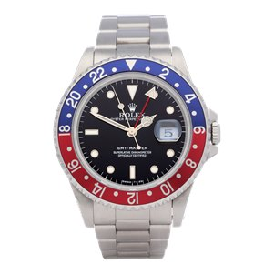 Rolex GMT-Master Pepsi Serif Fat Font Stainless Steel - 16700