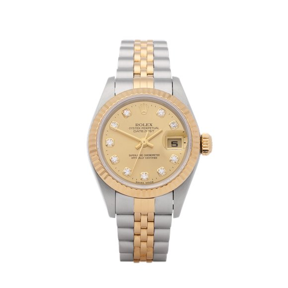 Rolex Datejust 26 Diamond 18K Stainless Steel & Yellow Gold - 79173G