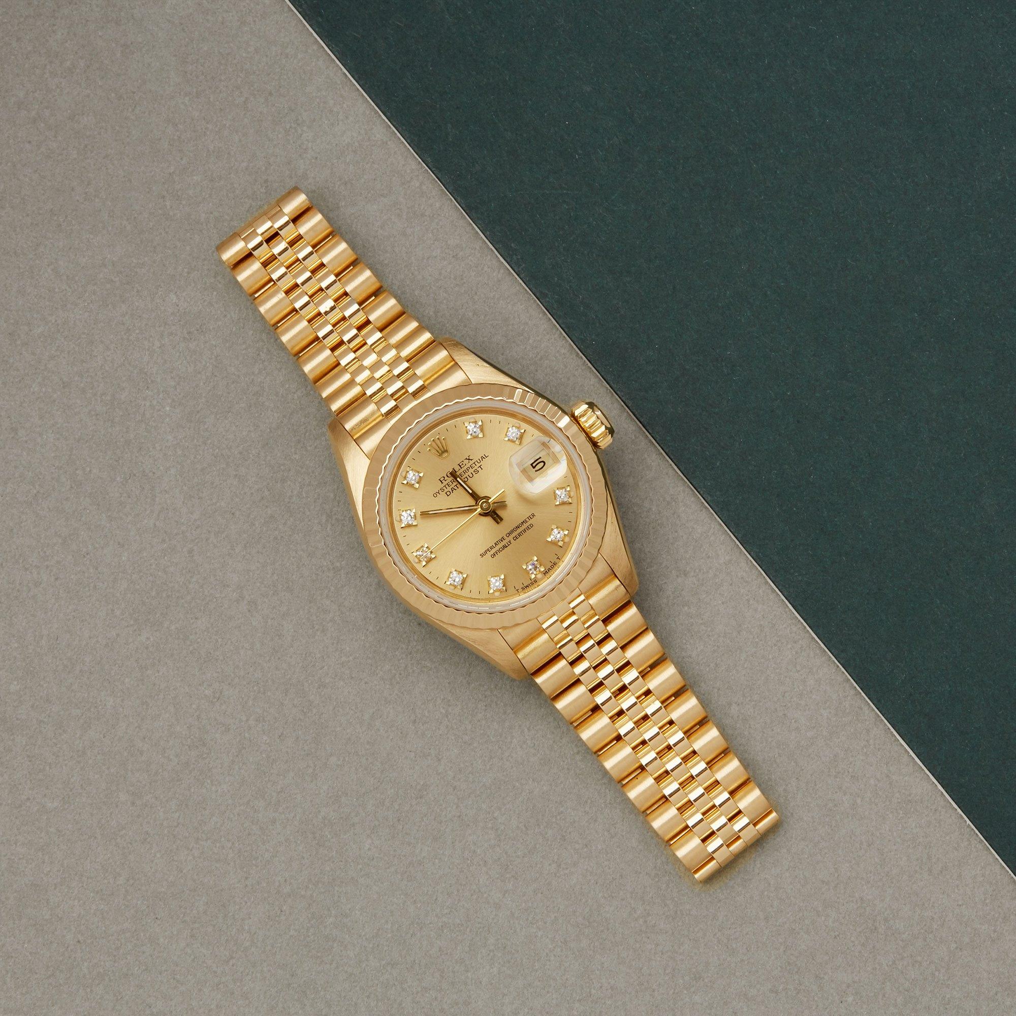 Rolex Datejust 26 Diamond 18K Yellow Gold 69178G