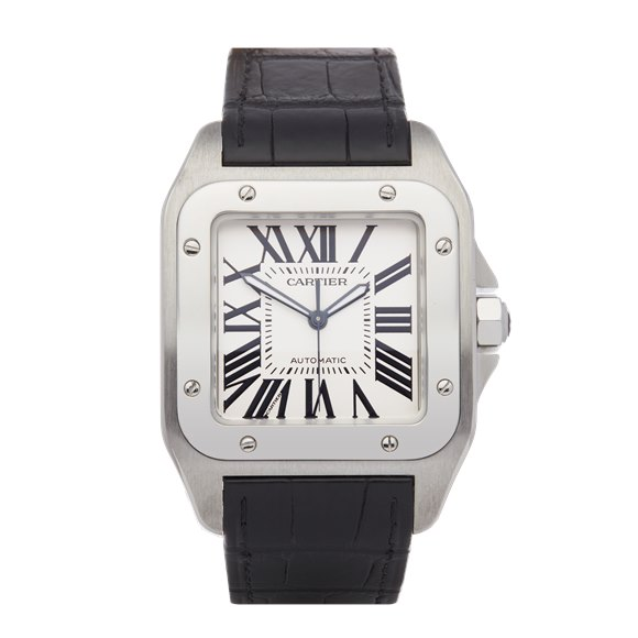 Cartier Santos 100 Chronograph XL Cartier Service Stainless Steel - W20090X8 or 2656