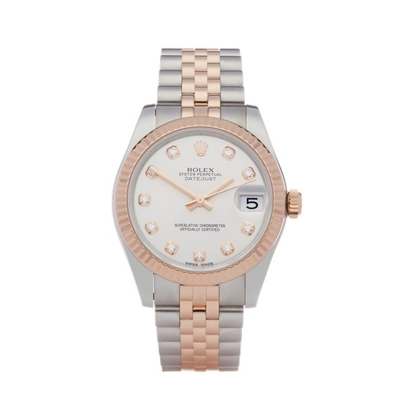 Rolex Datejust 31 Diamond Stainless Steel & Rose Gold - 178271