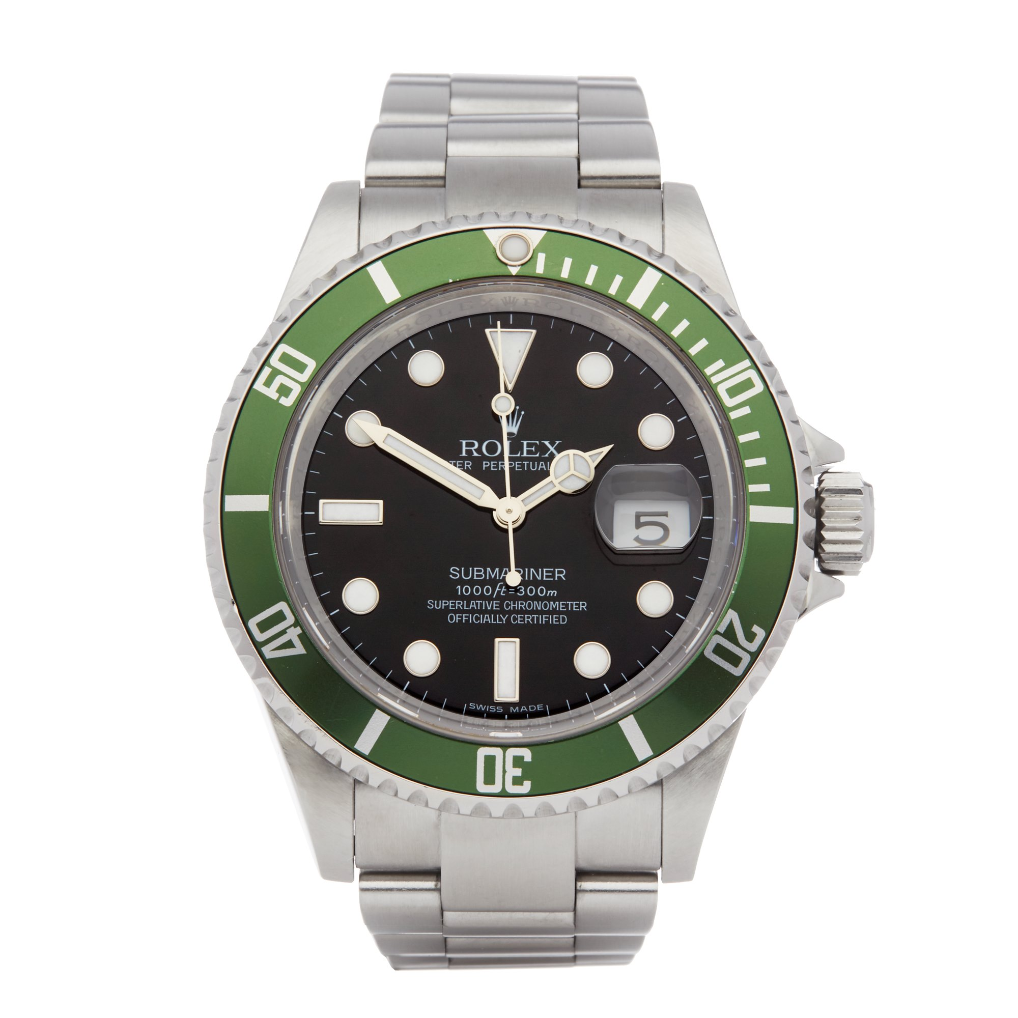 Rolex Submariner Date Kermit Stainless Steel 16610LV