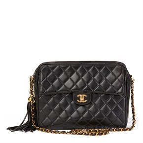 Chanel Black Quilted Lambskin Vintage Camera Bag