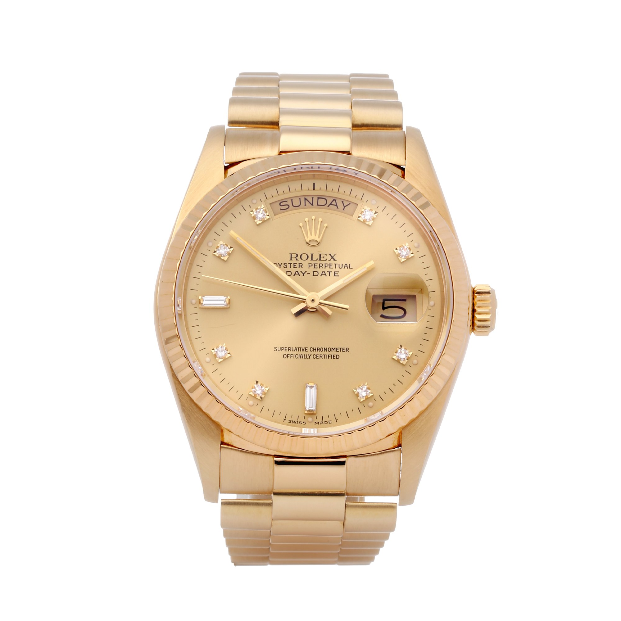 Rolex Day-Date 36 Diamond 18K Yellow Gold 18038A