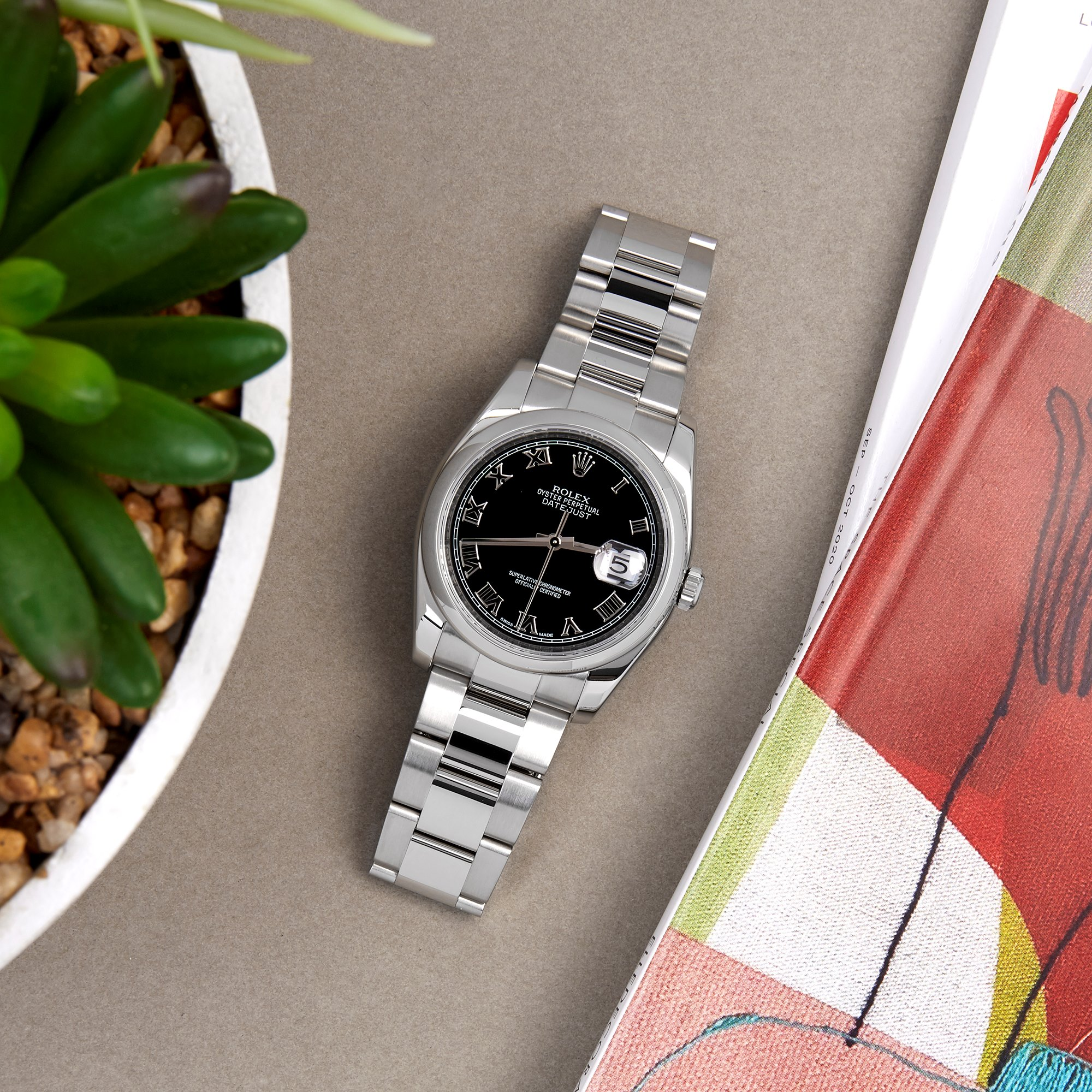 Rolex Datejust 36 Roestvrij Staal 116200