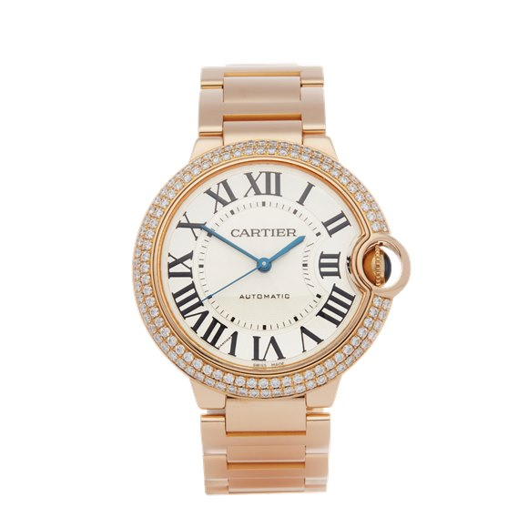 Cartier Ballon Bleu 36 Diamond 18K Rose Gold - WJBB0005 or 3003