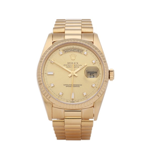 Rolex Day-Date 36 Diamond 18K Yellow Gold - 18238A