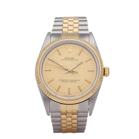 Rolex Oyster Perpetual 34 18K Stainless Steel & Yellow Gold - 14233