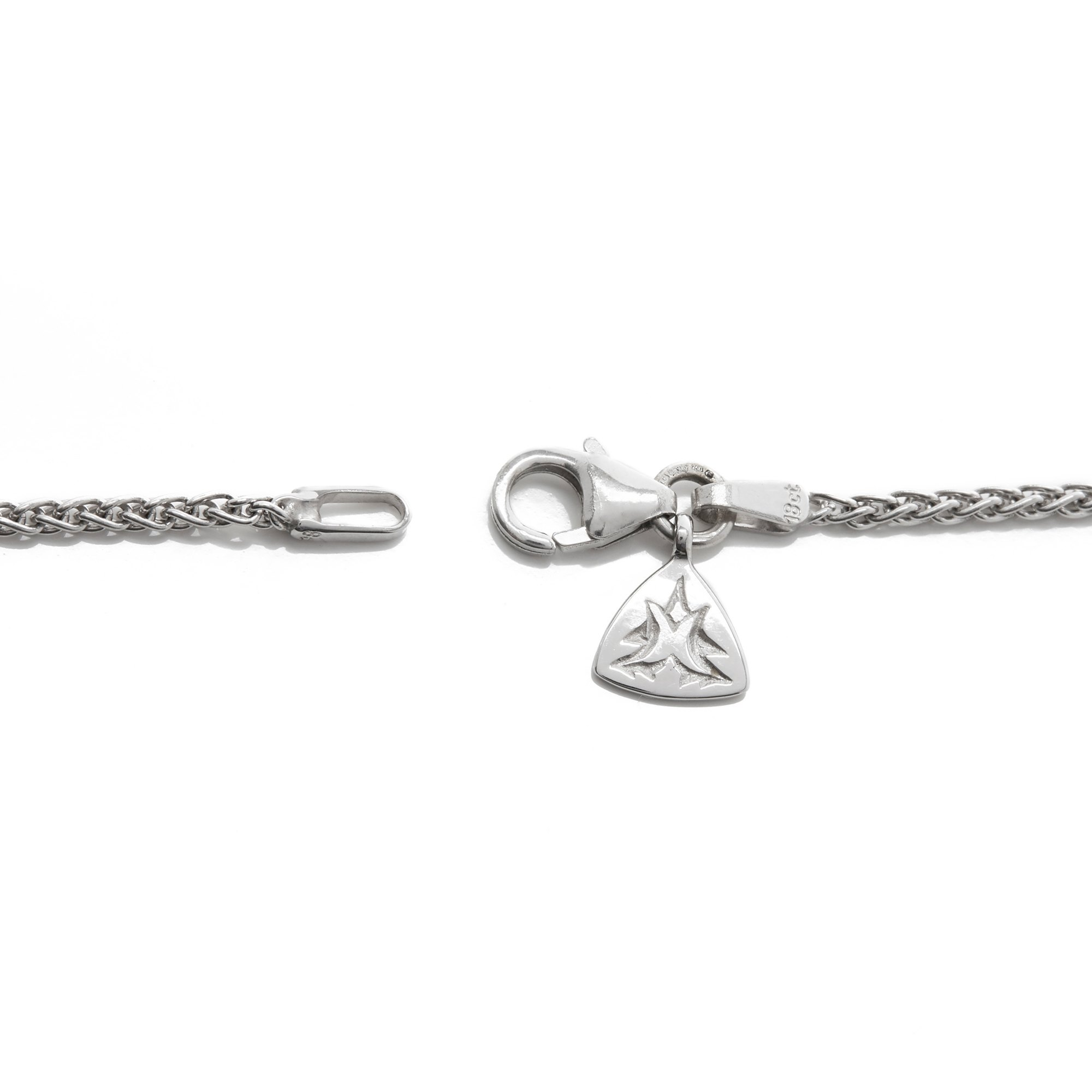 Stephen Webster 18k White Gold Thorn Necklet with Spiga Chain