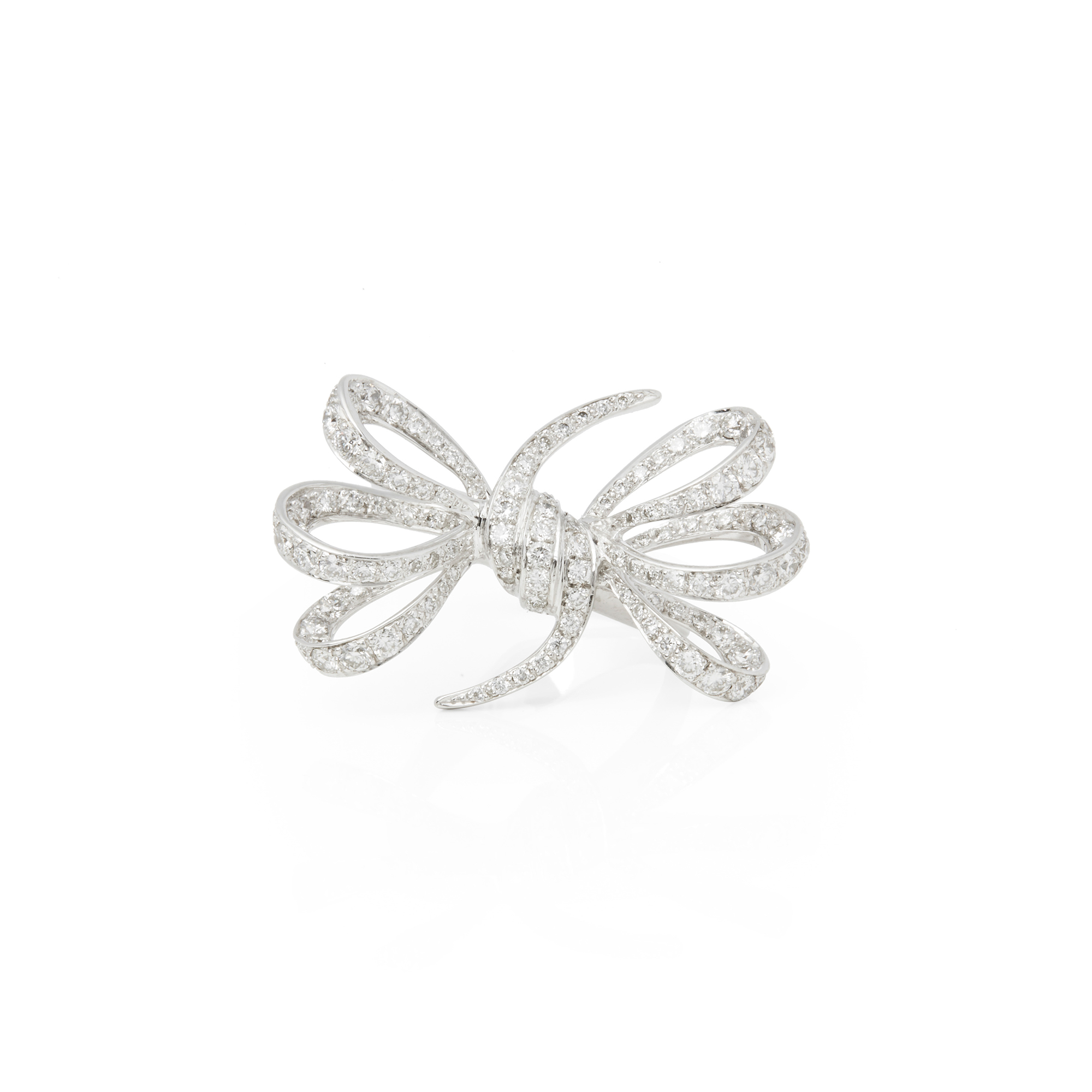 Stephen Webster 18k White Gold Forget Me Knot Diamond Ring Comj387 Ebay