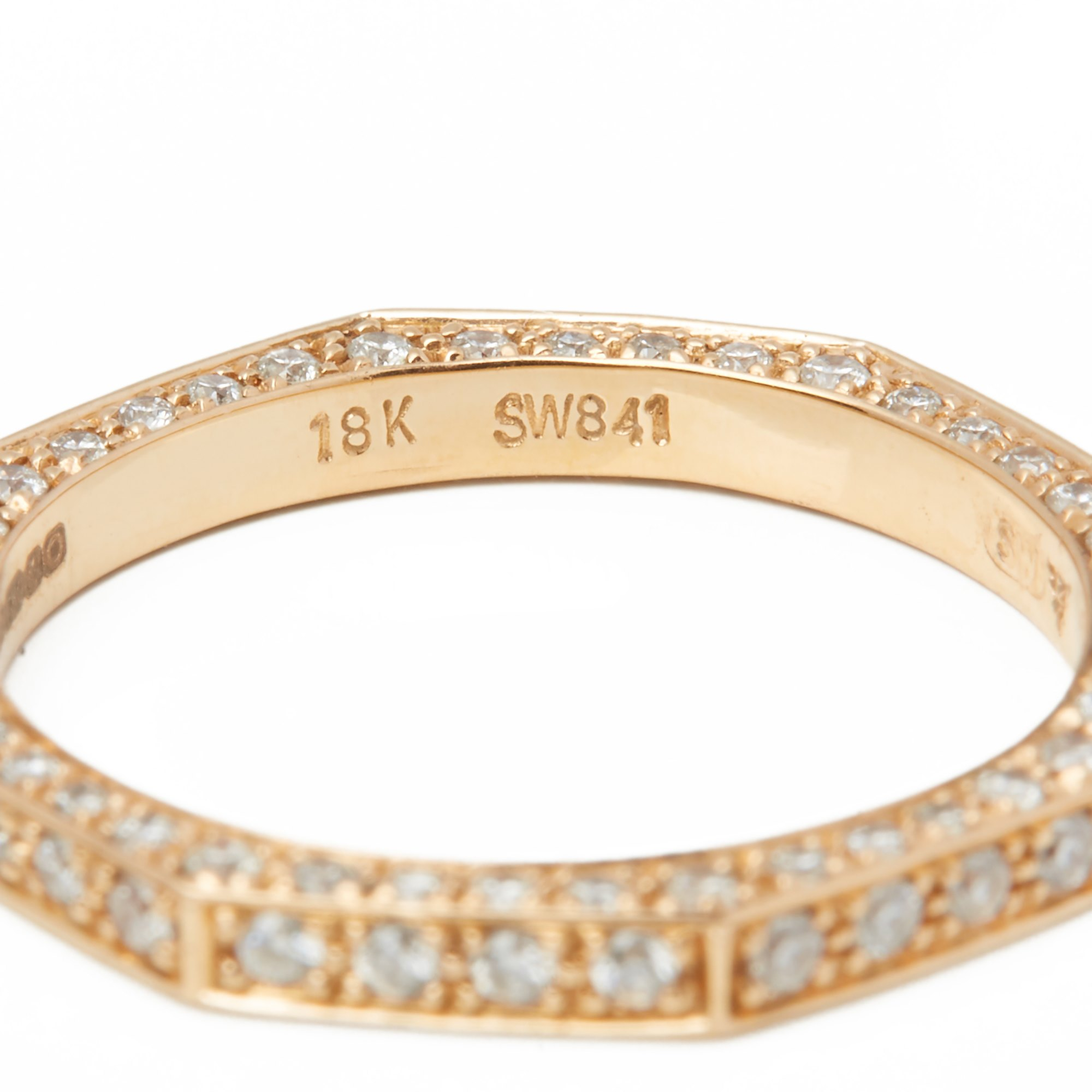 Stephen Webster 18k Rose Gold Deco Diamond Full Eternity Ring