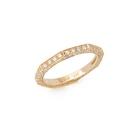 Stephen Webster 18k Rose Gold Deco Diamond Full Eternity Ring