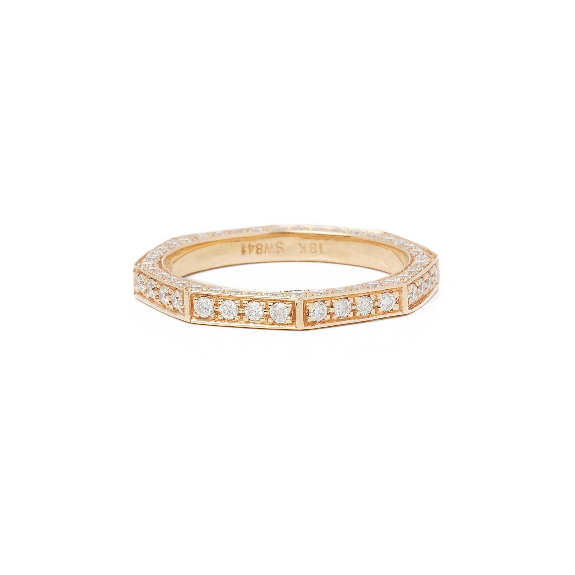 Stephen Webster 18k Yellow Gold Deco Diamond Full Eternity Ring