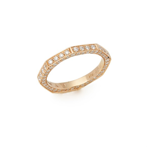 Stephen Webster 18k Yellow Gold Deco Diamond Full Eternity Ring