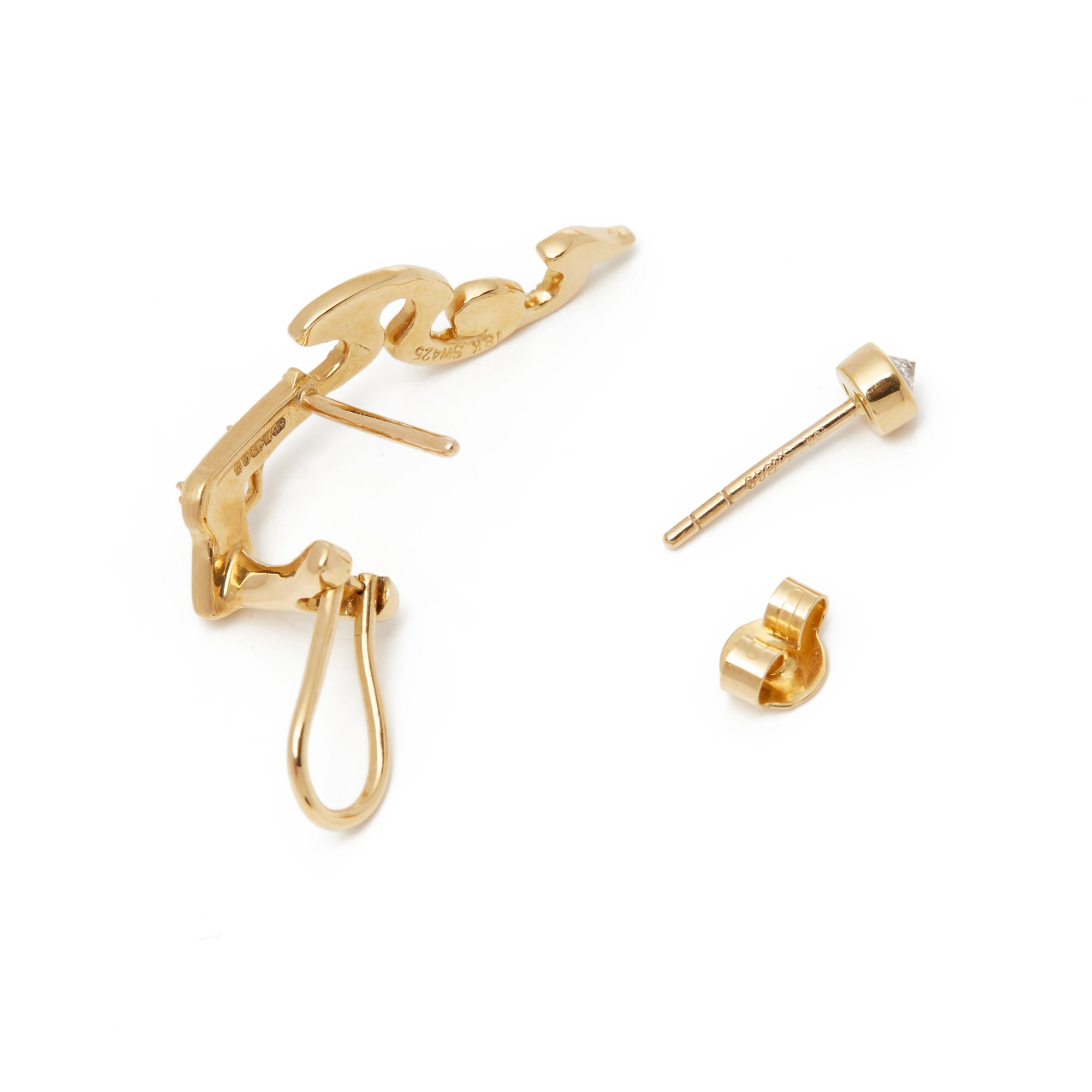 Stephen Webster 18k Yellow Gold Murder She Wrote Earrings