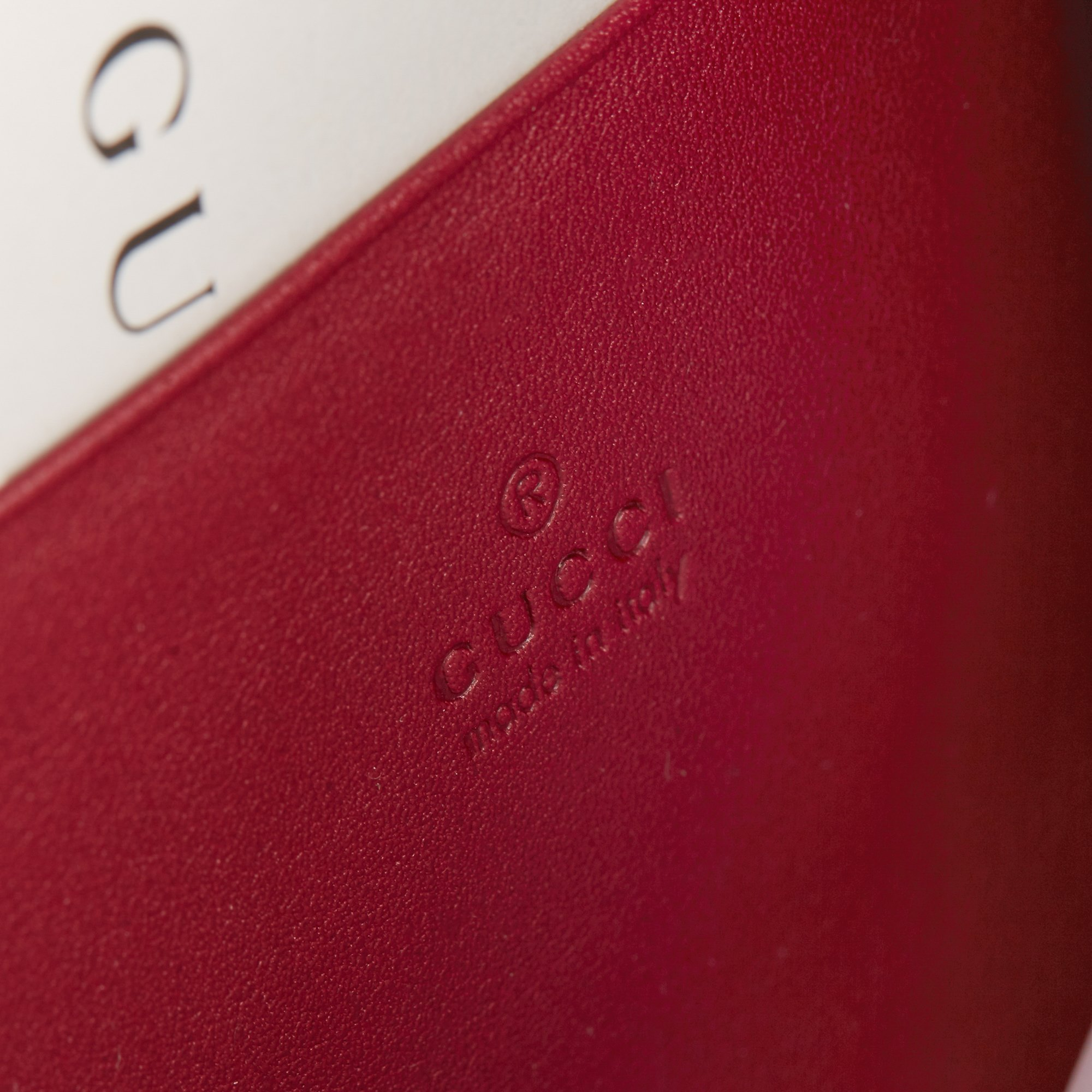Gucci Red GG Velvet & Calfskin Leather Dionysus Wallet-on-Chain