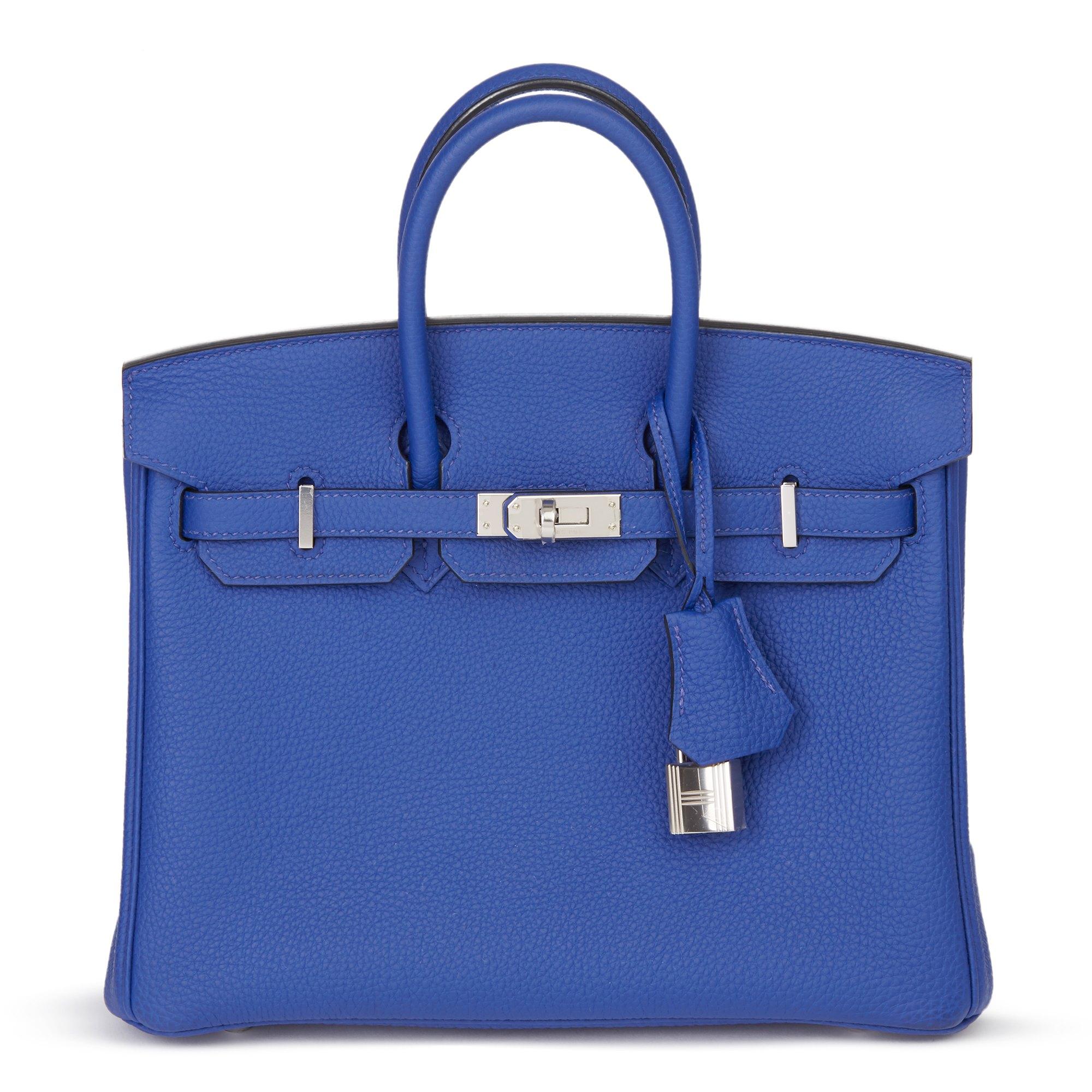 Hermès Blue Electric Togo Leather Birkin 25cm