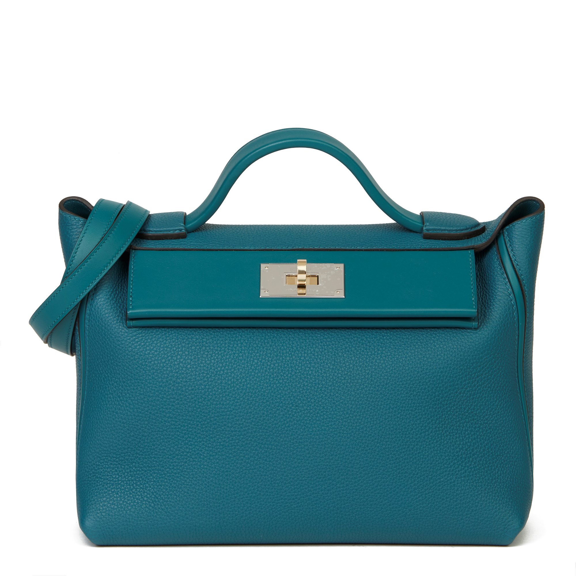 Hermès Vert Bosphore Togo & Swift Leather Leather 24/24 29cm