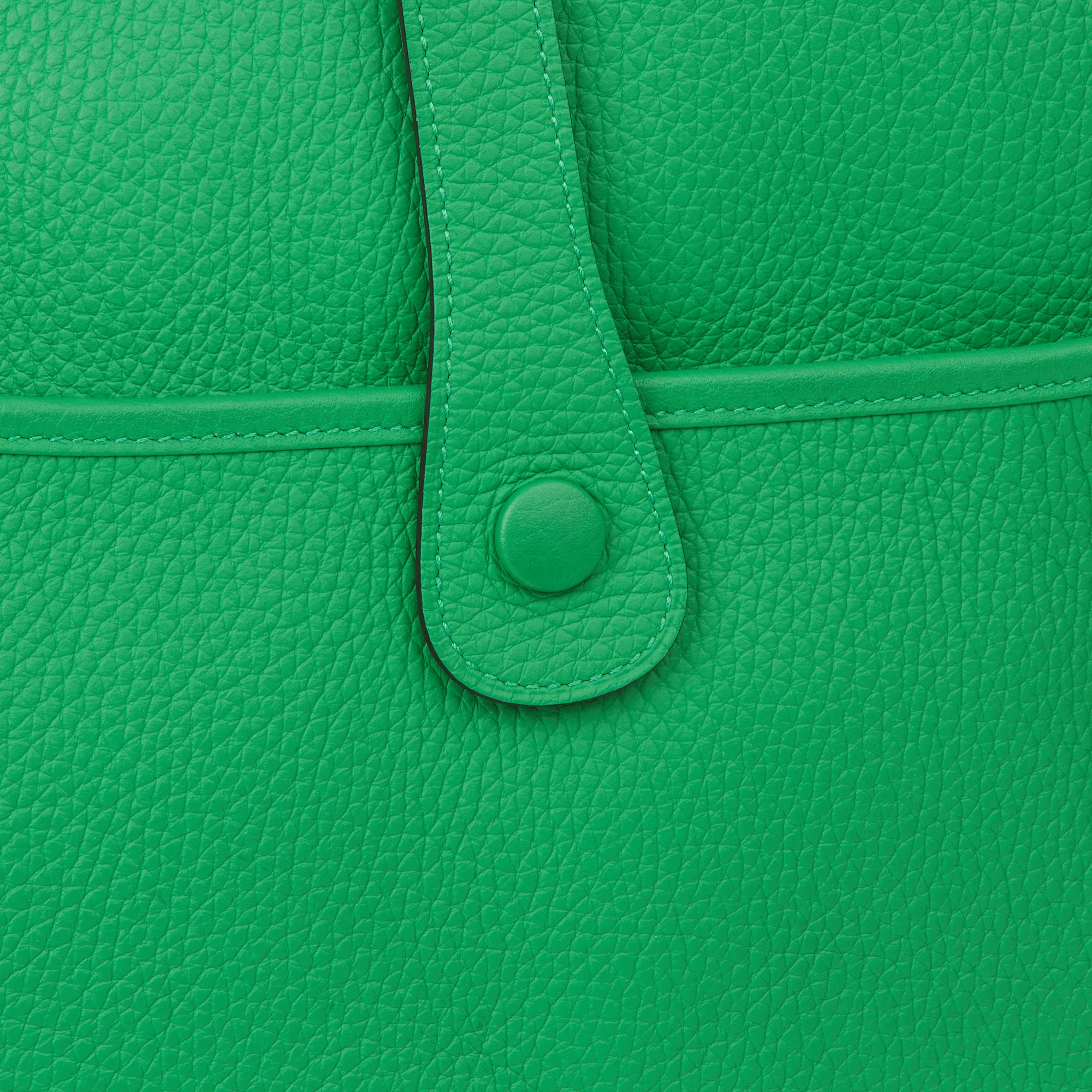 Hermès Bamboo Clemence Leather Evelyne III 33