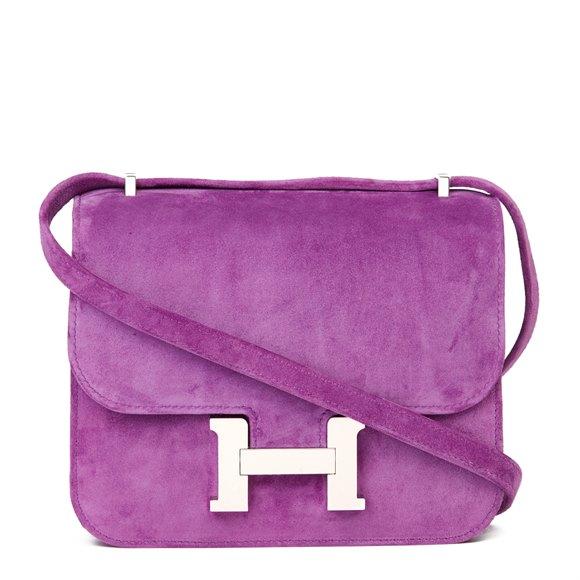 Hermès Violet Clair Doblis Hermes Constance 18
