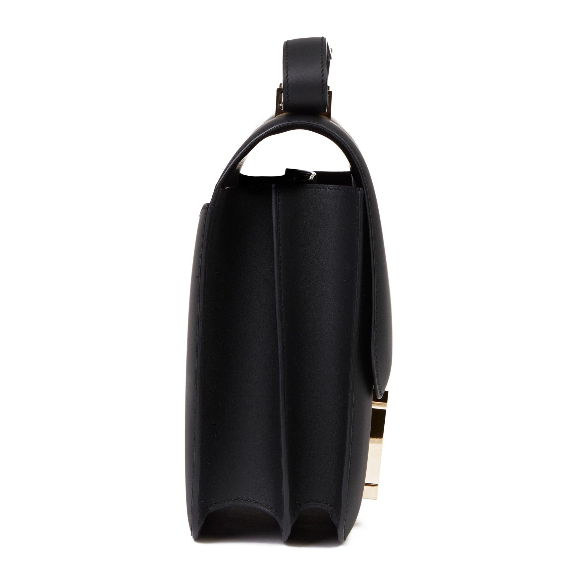 Hermès Black Sombrero Leather Constance Cartable