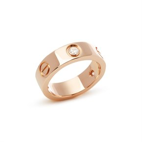 Cartier Love 18k Rose Gold 3 Diamond Ring