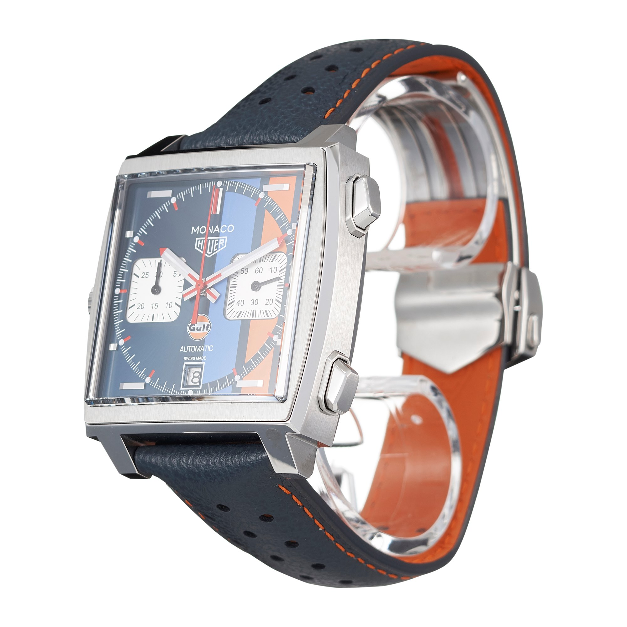 Tag Heuer Monaco Calibre 11 Automatic Chronograph Gulf Special Edition Roestvrij Staal CAW211R.FC6401