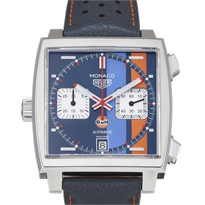 Tag Heuer Monaco Calibre 11 Automatic Chronograph Gulf Special Edition Stainless Steel - CAW211R.FC6401