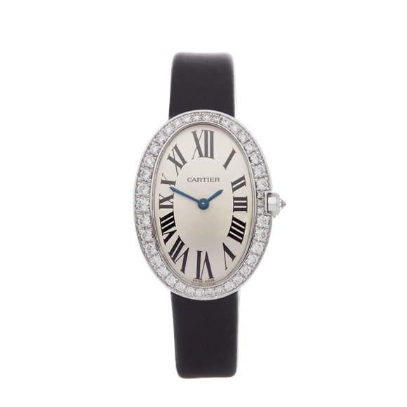 Cartier Baignoire Diamond 18K White Gold - 3065