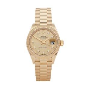 Rolex Datejust 28 18K Yellow Gold - 279178