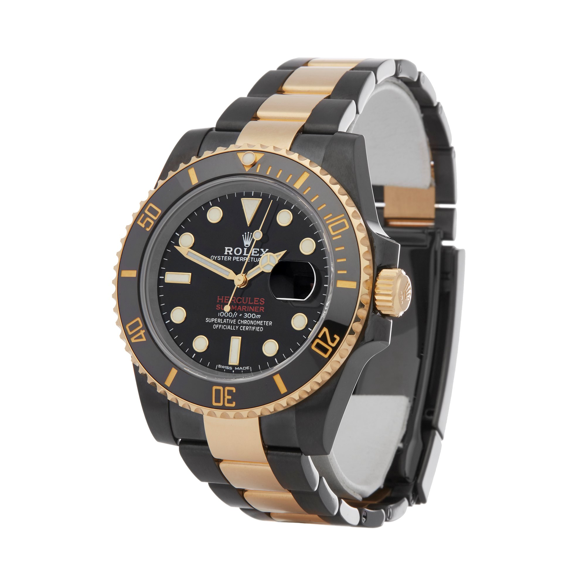 Rolex Submariner Date Hercules Dlc Stainless Steel & Yellow Gold 116613LN