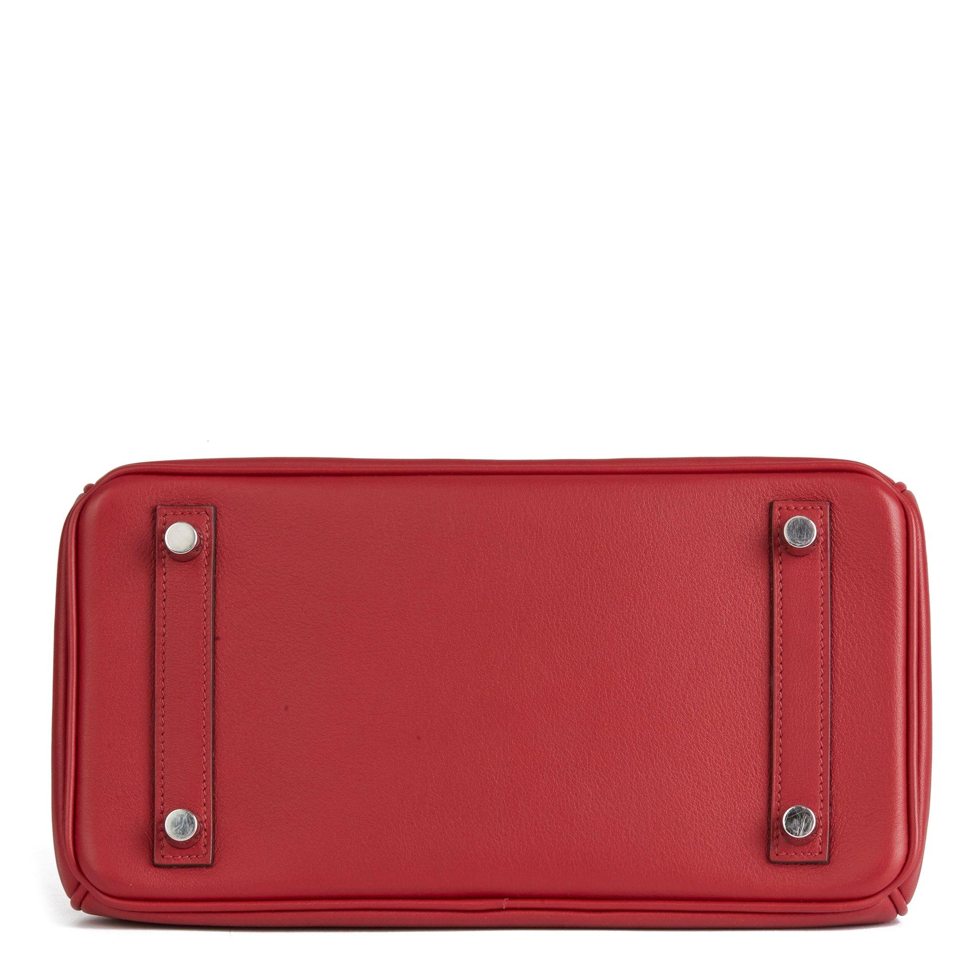 Hermès Rouge Grenat Swift Leather Birkin 25cm