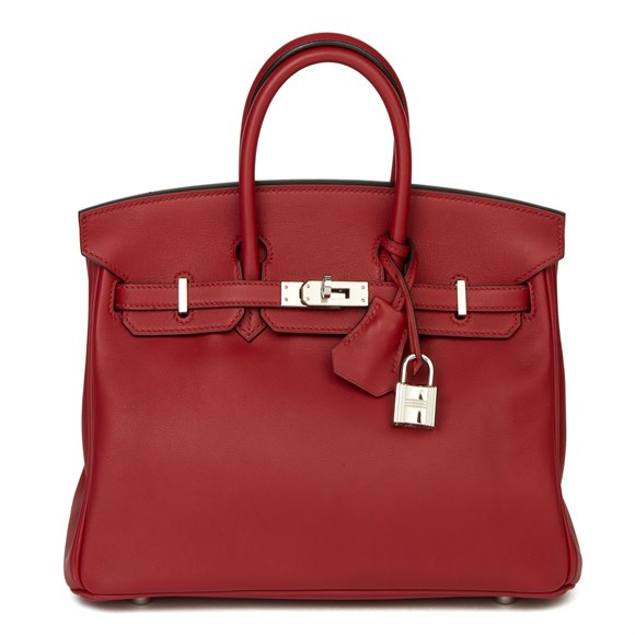 Hermès Rouge Grenat Swift Leather Birkin 25cm