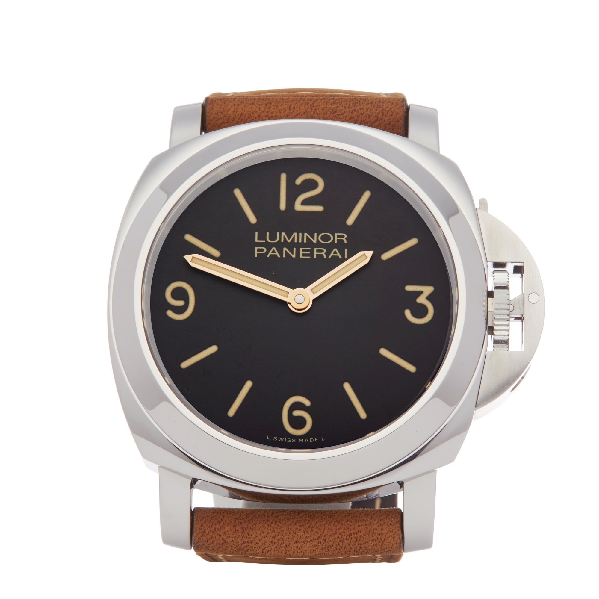 Panerai Luminor Base Boutique Special Edition Tobacco Dial Roestvrij Staal PAM00390