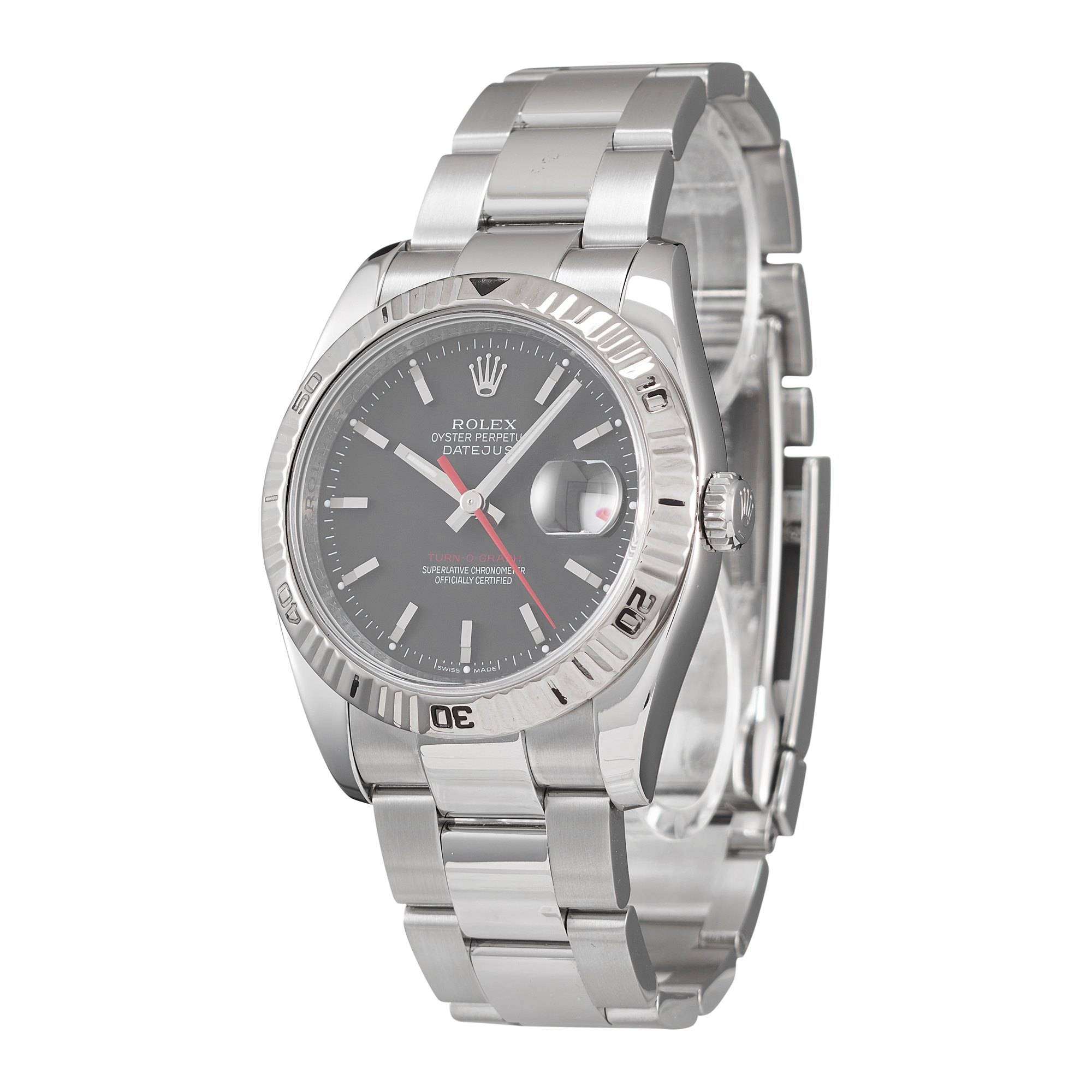 Rolex Datejust 36 Turn-O-Graph Stainless Steel & White Gold 116264
