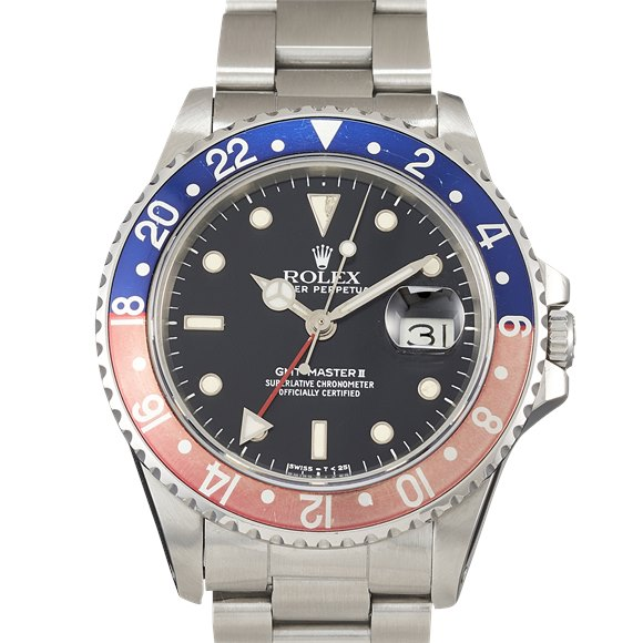 """Rolex GMT-Master II """"Fat Lady"""" Stainless Steel - 16760"""
