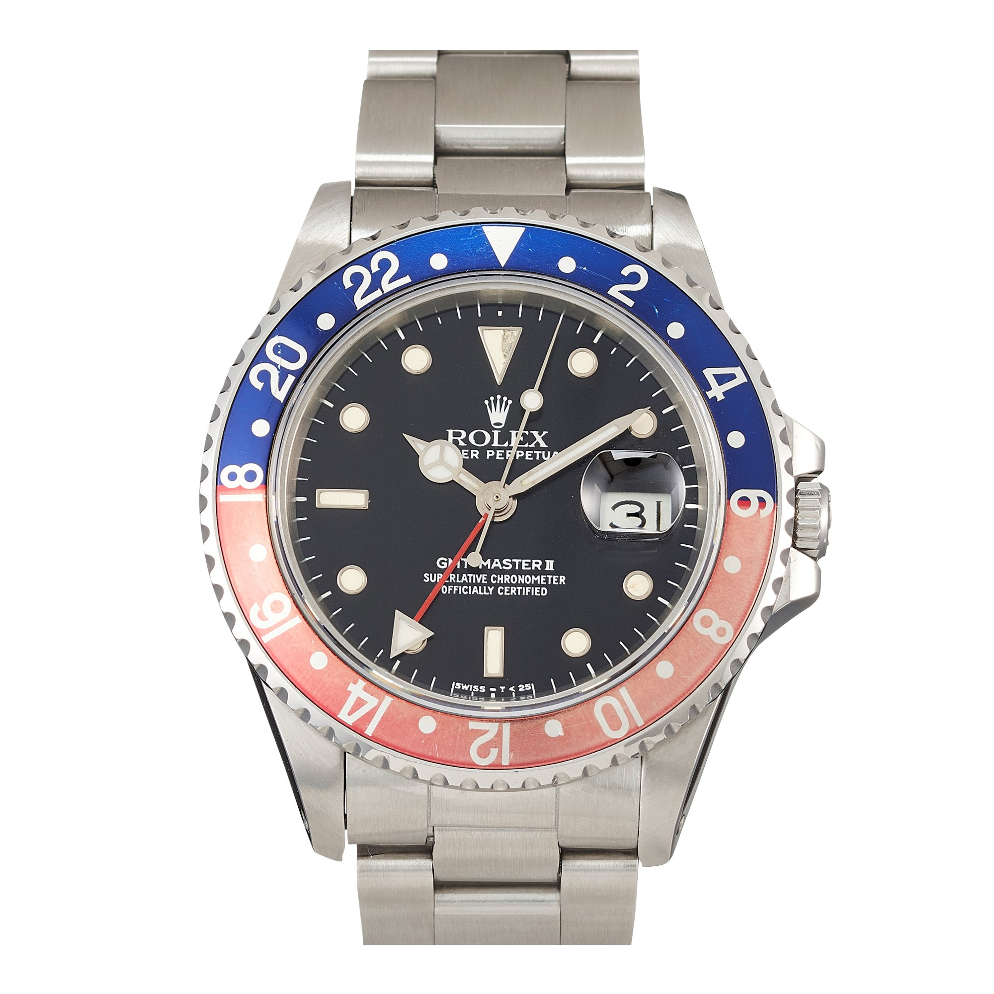 """Rolex GMT-Master II """"Fat Lady"""" Stainless Steel 16760"""